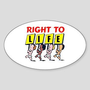 PRO-LIFE BABIES Oval Sticker