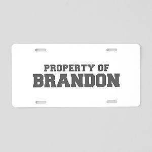 PROPERTY OF BRANDON-Fre gray 600 Aluminum License