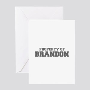 PROPERTY OF BRANDON-Fre gray 600 Greeting Cards