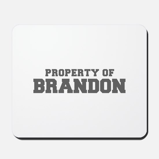 PROPERTY OF BRANDON-Fre gray 600 Mousepad