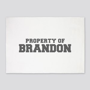 PROPERTY OF BRANDON-Fre gray 600 5'x7'Area Rug