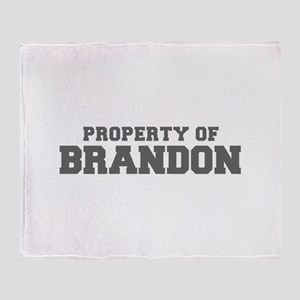 PROPERTY OF BRANDON-Fre gray 600 Throw Blanket