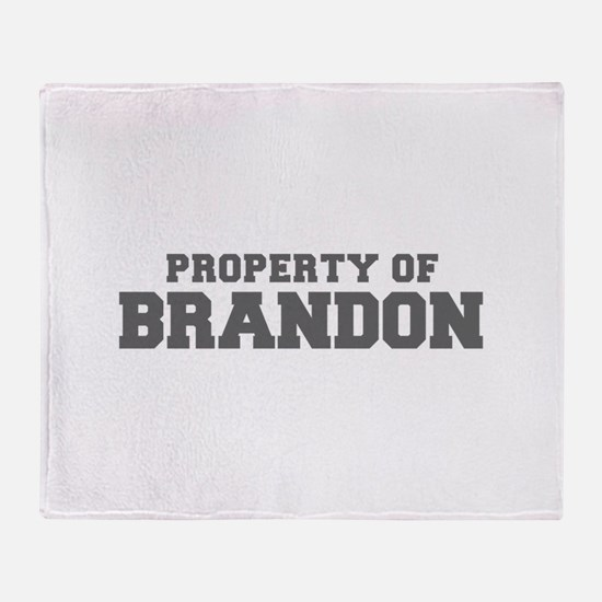PROPERTY OF BRANDON-Fre gray 600 Throw Blanket