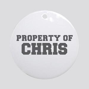 PROPERTY OF CHRIS-Fre gray 600 Ornament (Round)