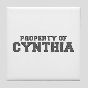 PROPERTY OF CYNTHIA-Fre gray 600 Tile Coaster