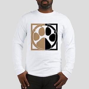 Tan Paw Print Long Sleeve T-Shirt