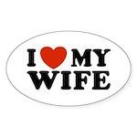 I Love My Wife Oval Sticker
