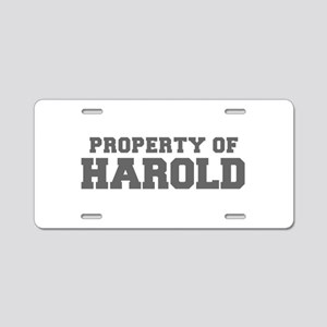 PROPERTY OF HAROLD-Fre gray 600 Aluminum License P