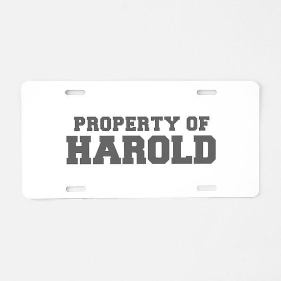 PROPERTY OF HAROLD-Fre gray 600 Aluminum License P