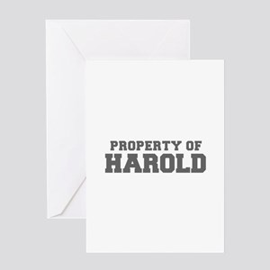 PROPERTY OF HAROLD-Fre gray 600 Greeting Cards