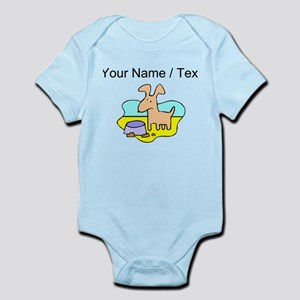 Custom Dog And Bowl Body Suit