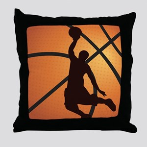 Basketball dunk Throw Pillow