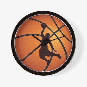 Basketball dunk Wall Clock
