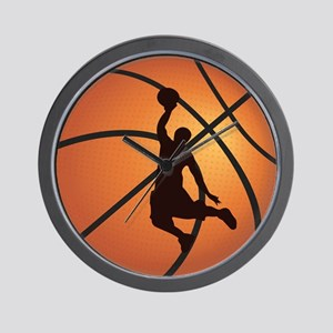 Basketball dunk Wall Clock