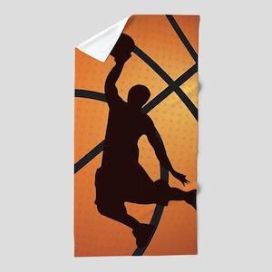 Basketball dunk Beach Towel