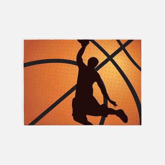 Basketball dunk 5'x7'Area Rug