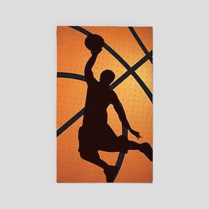 Basketball dunk Area Rug
