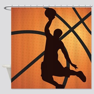 Basketball dunk Shower Curtain