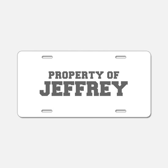 PROPERTY OF JEFFREY-Fre gray 600 Aluminum License