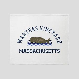 Martha's Vineyard. Throw Blanket