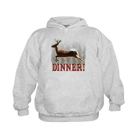 deer dinner Kids Hoodie
