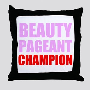 Beauty Pageant Champion Throw Pillow