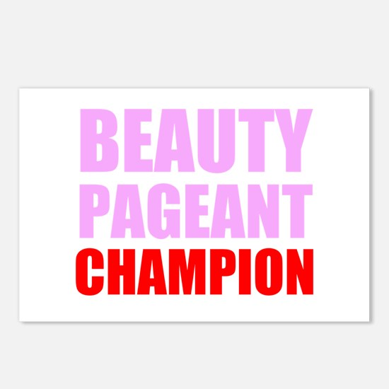 Beauty Pageant Champion Postcards (Package of 8)
