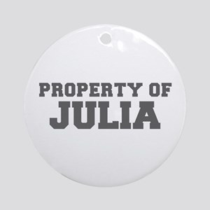 PROPERTY OF JULIA-Fre gray 600 Ornament (Round)