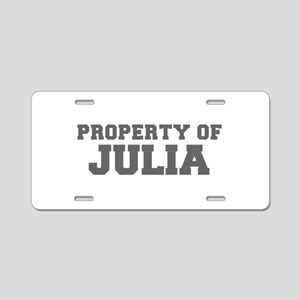 PROPERTY OF JULIA-Fre gray 600 Aluminum License Pl