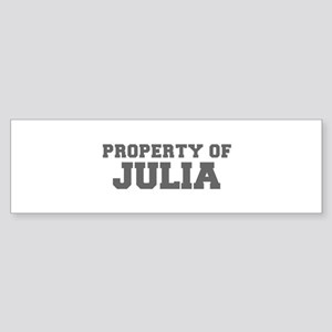 PROPERTY OF JULIA-Fre gray 600 Bumper Sticker