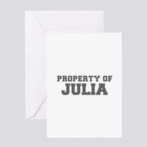 PROPERTY OF JULIA-Fre gray 600 Greeting Cards