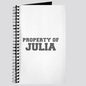 PROPERTY OF JULIA-Fre gray 600 Journal