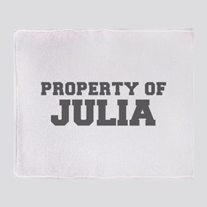 PROPERTY OF JULIA-Fre gray 600 Throw Blanket