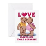Teddy Love Greeting Cards (Pk of 20)