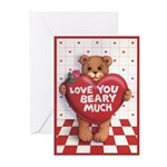 Love You Beary Much Greeting Cards (Pk of 20)