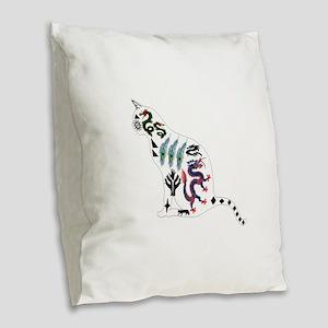 CAT Burlap Throw Pillow