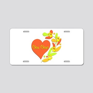 Chow Chow Heart Aluminum License Plate