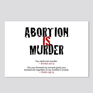 Abortion IS Murder 2.0 - Postcards (Package of 8)
