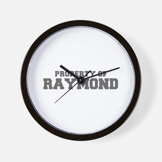 PROPERTY OF RAYMOND-Fre gray 600 Wall Clock
