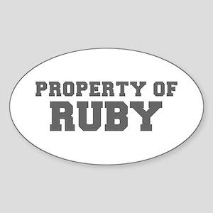 PROPERTY OF RUBY-Fre gray 600 Sticker