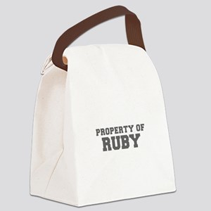 PROPERTY OF RUBY-Fre gray 600 Canvas Lunch Bag