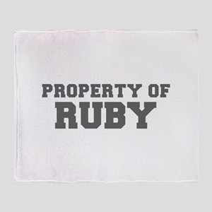 PROPERTY OF RUBY-Fre gray 600 Throw Blanket