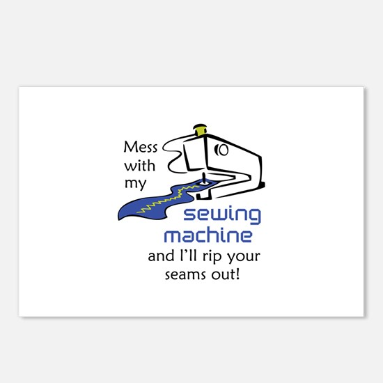 MESS WITH MY MACHINE Postcards (Package of 8)