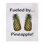 Fueled by Pineapple Throw Blanket