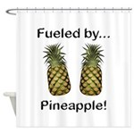Fueled by Pineapple Shower Curtain