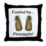 Fueled by Pineapple Throw Pillow