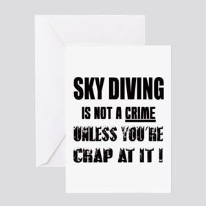 Sky Diving not a crime Unless you're Greeting Card