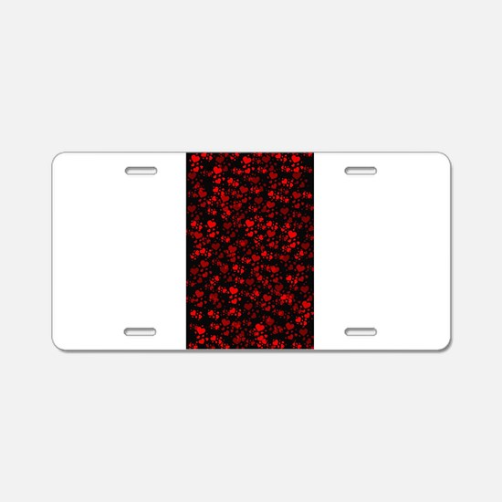 red hearts Aluminum License Plate