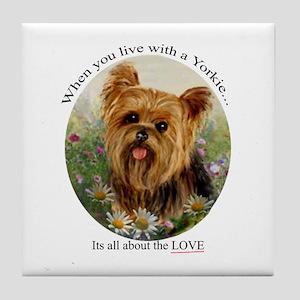 Yorkie Tile Coaster
