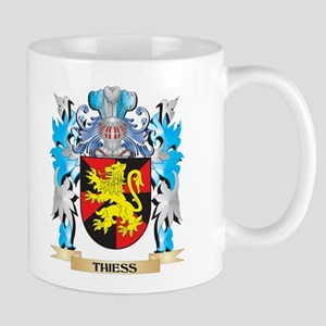Thiess Coat of Arms - Family Crest Mugs